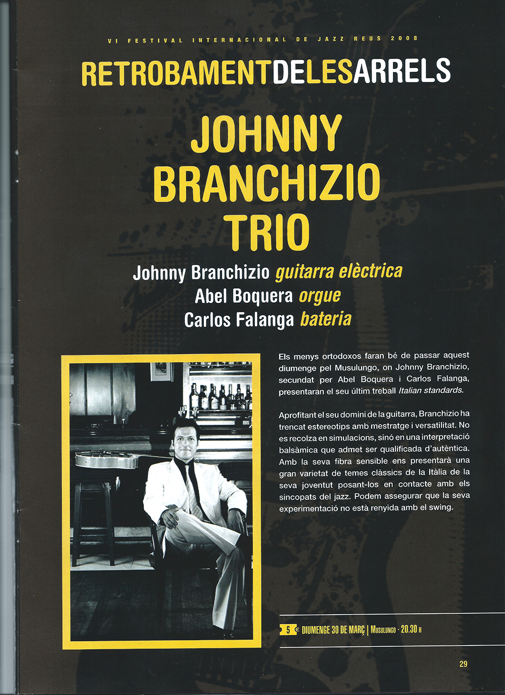 13 Johnny Branchizio Trio